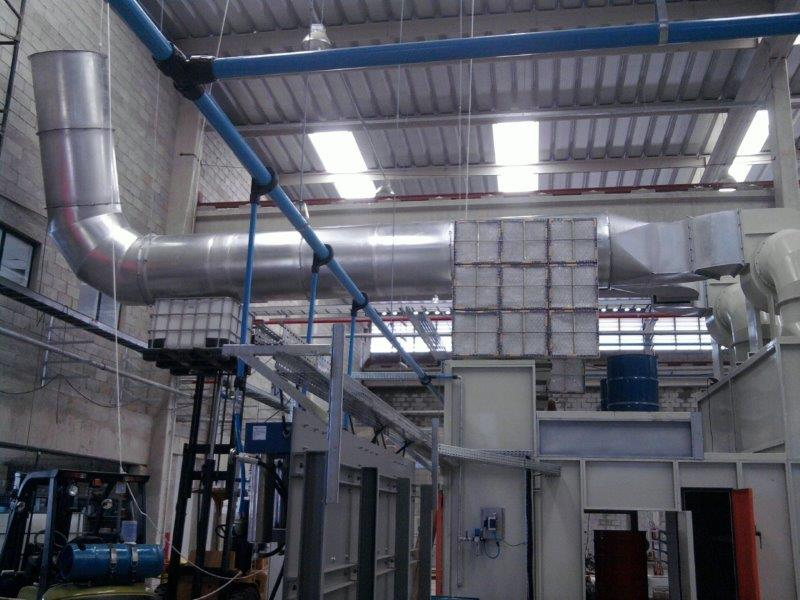Câmara de pintura industrial