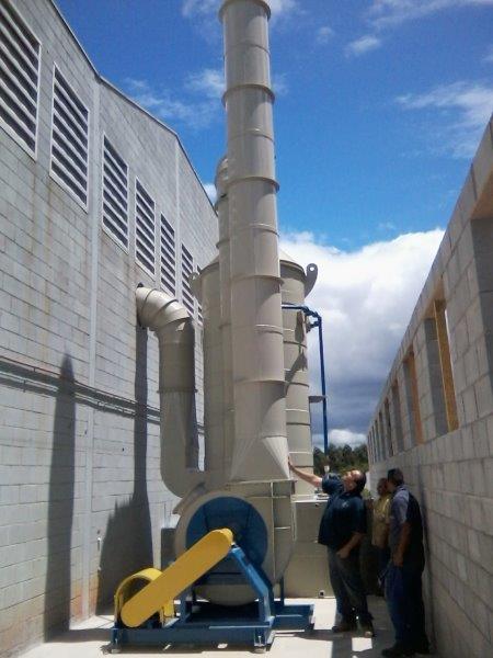 Lavador de gases efluentes