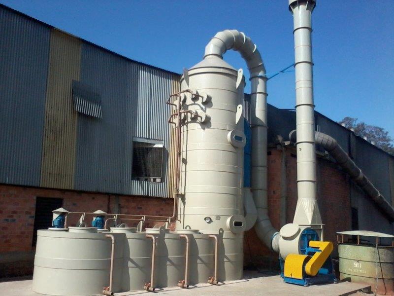 Lavador de gases polipropileno